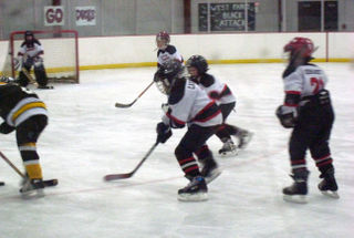 Going after the puck